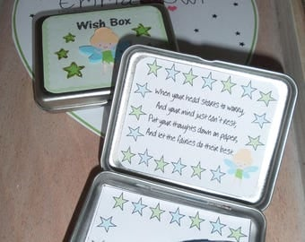 Handmade Wish Tin - Wish Box - Persoanlised Wish Box - Fairy Gift - Favour - Present - Gift for Friend - Gift for a Child - Birthday Gift