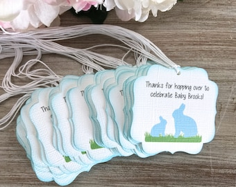 Bunny first birthday party favor tag, bunny baby shower favor tags, Girl baby shower favor tags, thank you tags, rabbit baby shower