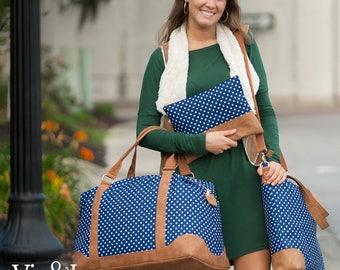 Charlie Dot  Collection - Weekender, Shoulder Bag, Zip Pouch - Price Includes Personalization