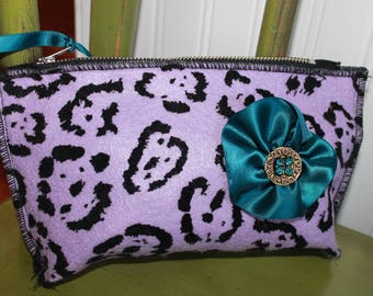 make up pouch, hand made pouch,one of a kind pouch