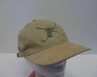 Guns X Golf Clubs hat cap 90s leather bill dad hat