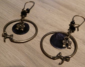 Black pretty dangling earrings
