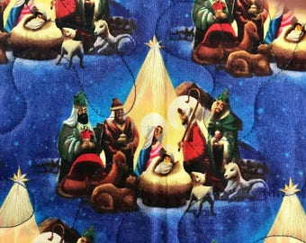 "Nativity Reversible Throw Quilt, 42"" x 51"""