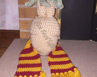 Crochet Mandrake Hat and Griffindor Scarf Set Photo Props Costume Dress Up