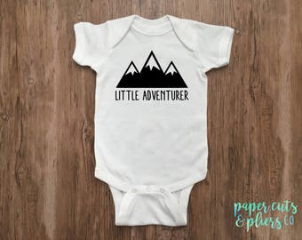 Little Adventurer Short Sleeve Bodysuit for Babies/Kids