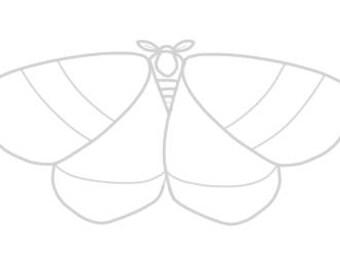 PRE-ORDER White Moth Pin