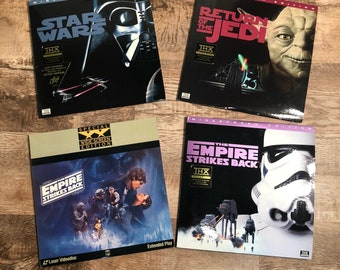 Set of 4 Laserdisc Star Wars Trilogy plus Empire Strikes Back Special Edition