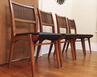 Mid Century Modern John Van Koert Drexel Profile Dining Chairs Set Of 4 (PureVintageNYC)