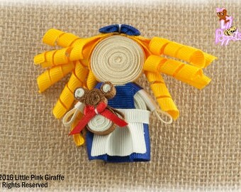 Lil' Poppet™ Goldilocks, Ribbon Sculpture Hair Clip or Brooch Pin
