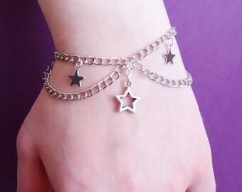 pastel goth star bracelet - kawaii jewelry - pastel grunge - soft grunge