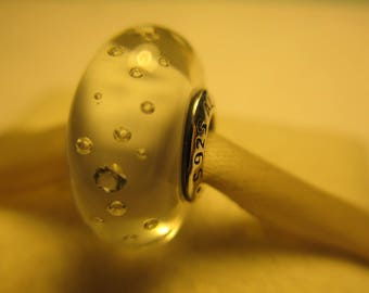 New Authentic Pandora 925 Ale Sterling Silver Clear White Effervescence CZ Bead Charm