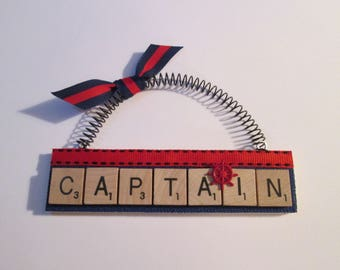 Boat Captain Scrabble Tile Ornament