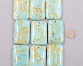 Stone Slice Slab Pendants -- Gemstone Top Drilled Pendant YHA-333
