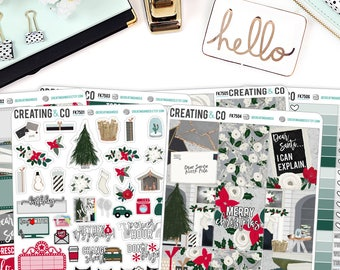 White Christmas Weekly Planner Kit for No-White Space and White Space  Planners - FK75