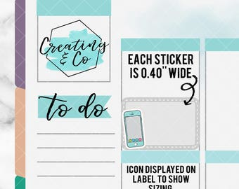 Smartphone Stickers for Variety of Planners - DCF14