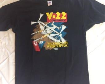 Vintage V-22 Osprey Shirt Made in 1988 Men's XL
