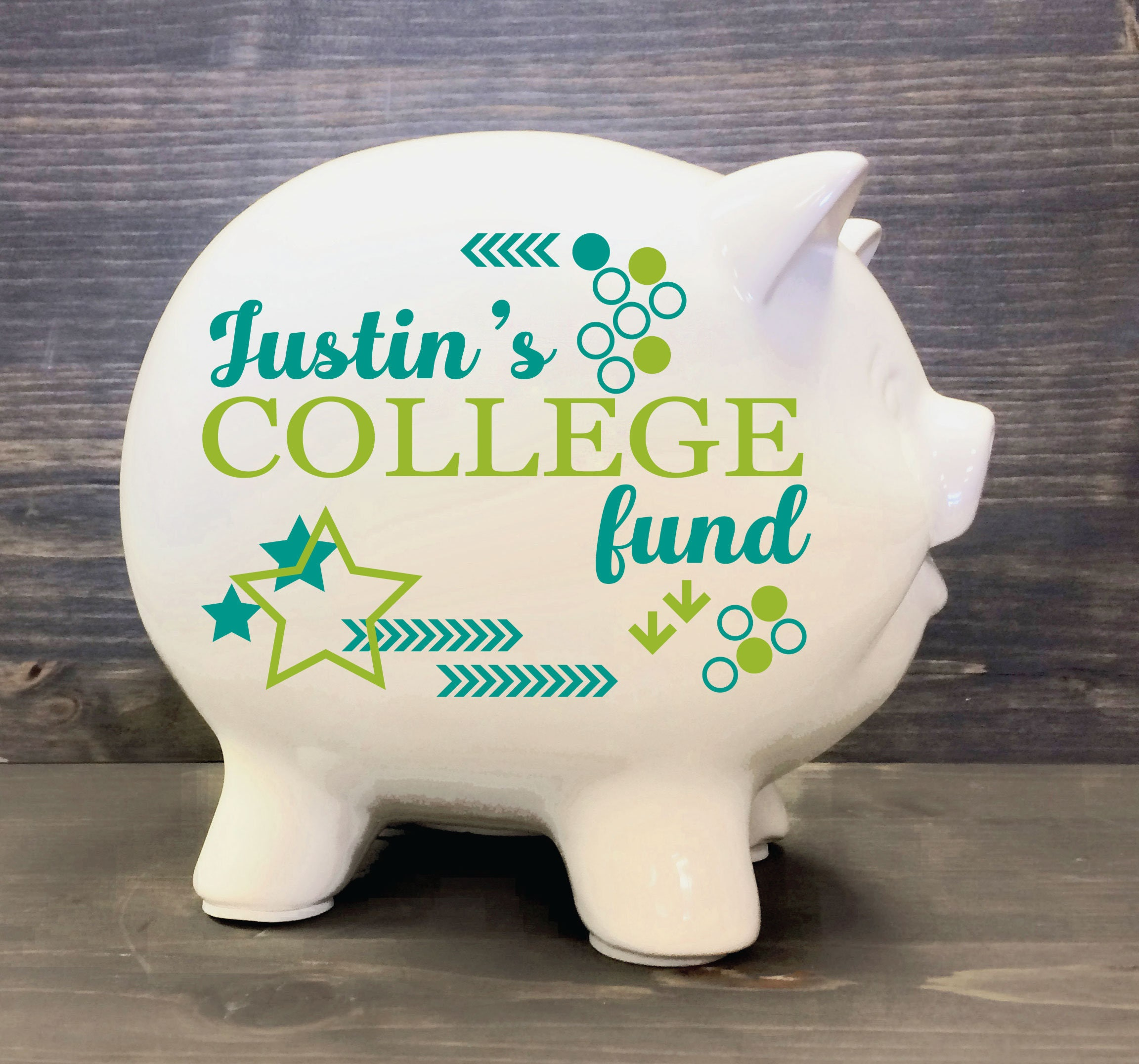 Custom College Fund Piggy Bank 8 Custom Baby Gift
