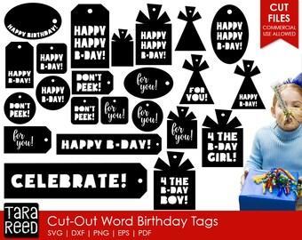 Birthday Gift Tag svg bundle / svg bundle / Birthday svg / svg for cricut / svg for silhouette