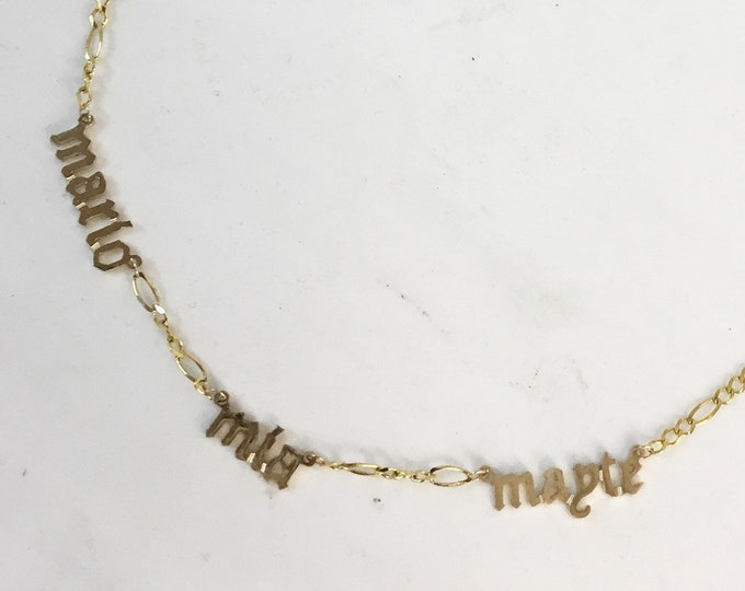 Triple Figaro Name Necklace