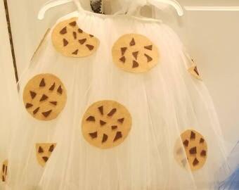 Baby/toddler/child cookies and milk tutu costume