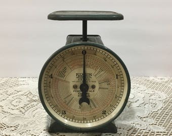 Hanson Postal Scale ~ Antique ~ Model 1509 ~ Postal Scale dated October 1, 1946 ~ 5 LB Capacity ~ Industrial Décor - Retro