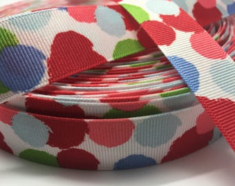 "3 yards 7/8"" modern floral brush stroke grosgrain ribbon"