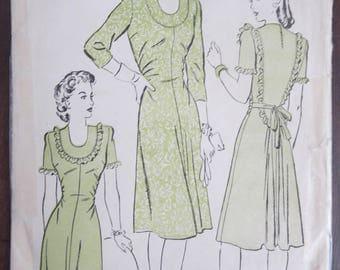 Vintage Advance 3722 Misses Dress 1940's size 12