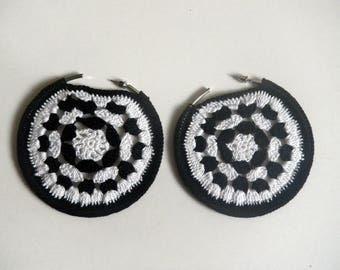 "creole earrings ""yin and yang mandala"""
