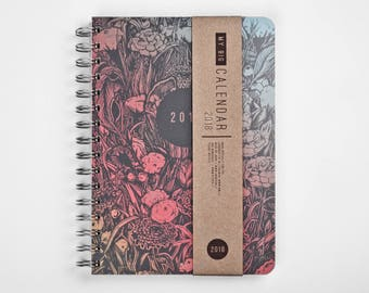 2018 Planner with a high quality paper! Dark forest A5 Diary! Weekly daily Calendar Calendario Kalender Agenda Journal! Open-dated