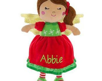 Personalized Doll, Angel Doll, Christmas Angel Baby Doll, Angel Christmas Doll