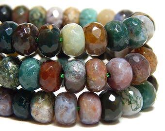 8x5mm Fancy Jasper Faceted Gemstone Beads, Faceted Rondelles, Fancy Jasper Rondelles, Gemstone Rondelles, Faceted Fancy Jasper,  B-32D