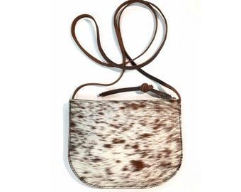 LUNA CROSSBODY Hair-on Speckled • Calf Hair Leather Bag