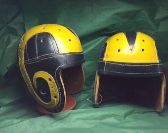 1940 LA Rams Crazy Legs Hirsch Leather football helmet