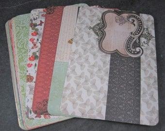 Coordinating Cardstock 4x6 Photo Mats Lot of 23 Mariposa