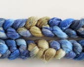 bfl linen, North Wind, top, handpainted fiber for spinning.4,2oz