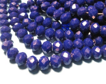 1 Strand Blue Faceted Rondelle Beads 8x6mm