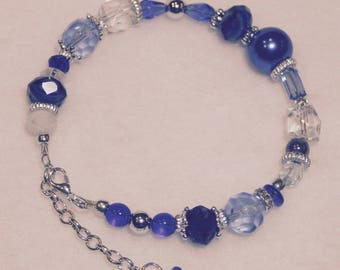 Chanukah Variegated Beaded Bracelet