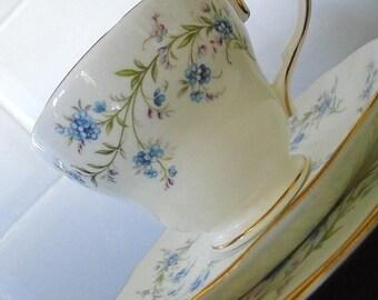Vintage English Bone China Duchess Tranquillity Cup & Saucer Trio