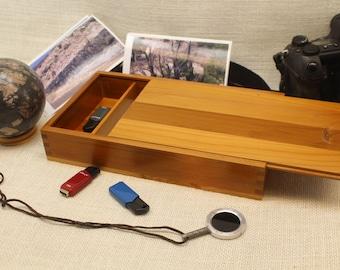 Wooden Photo Box, Photo Box, Sliding Top Photo Box, Photo Box 5 x 7, Sliding Top Box, Sliding Lid Box, Sliding Lid Photo Box, (st51129B)