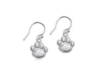 Penn State Sterling Silver Dangle Earrings,  Nittany Lions Silver Jewelry, PSU-6105