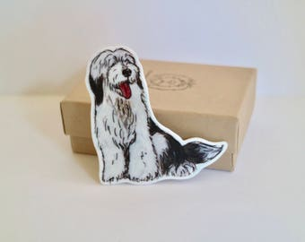 Old English Sheepdog Brooch