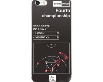 UCONN Basketball iPhone Case: Fourth championship (2014)