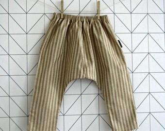 Stripy organic cotton harem pants