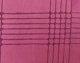 1/2 Yard Chroma Handcrafted Batik Plaid in Plum from Andover designed by Alison Glass 8132-E1