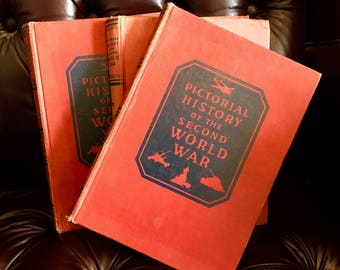 Pictorial History of the Second World War, volumes 1, 2 and 4  published 1944 - 1946