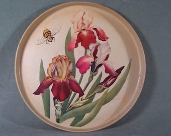 Bee and Iris Tray Tin    W167