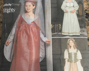Simplicity 9836 Renaissance Costume Collection for Kids Andrea Schewe Pattern 7-14