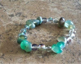 Faux Jade with Faceted Beads  -  Item 212