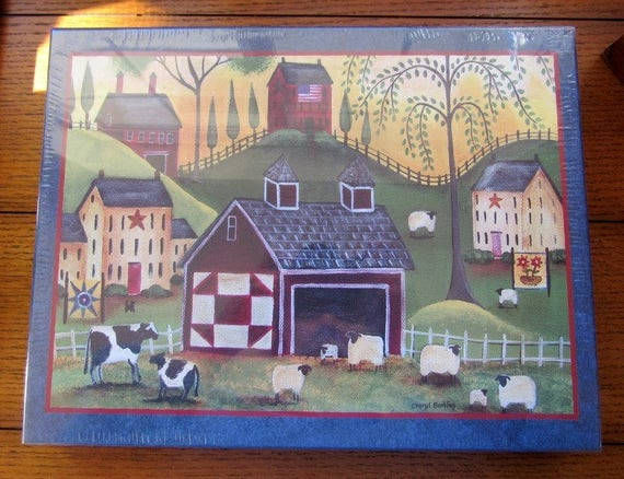 1000 Piece Jigsaw Puzzle Sunrise Quilt Barn
