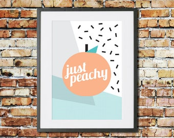 Printable - Printable Art - Instant Download - Modern Wall Art - Home Decor - Home Prints - Wall Art - Just Peachy